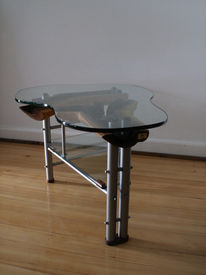 Wohndesign, Tisch, Design, Edelstahl