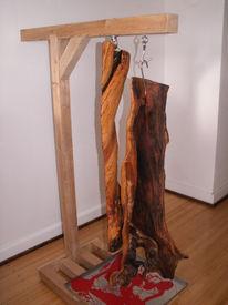 Speckschwarte, Baumkunst, Hausschlachtung, Skulptur