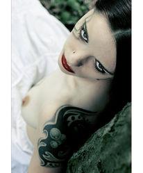 Akt, Menschen, Brust, Make up