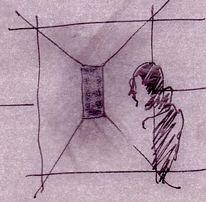 Blick, Kreide, Skizze, Zeichnung