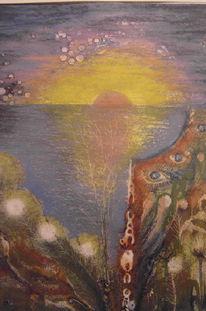 Kunsthandwerk, Metall, Sonnenuntergang