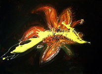 Malerei, Abstrakt, Blumen, Lilien