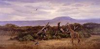 Giraffe, Malerei, Landschaft