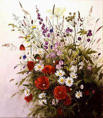 Sommerblumen, Malerei, Stillleben