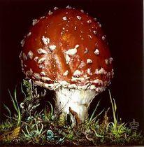 Fliegenpilz, Pilze, Malerei, Stillleben