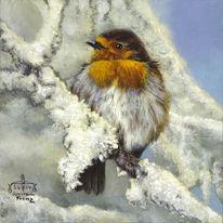 Rotkehlchen, Vogel, Malerei