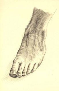 Plattfuß, Fuß, Zeichnungen