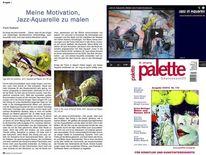 Zeitschrift, Aquarellmalerei, Jazz, Palette