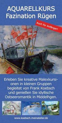 Middelhagen, Ostsee, Aquarellmalerei, Aquarellkurs
