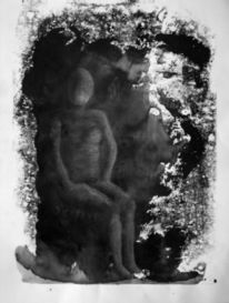 Schwarz, Figur, Figural, Malerei