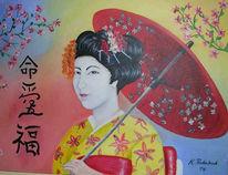 Malerei, Figural, Geisha