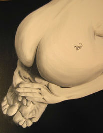 Akt, Malerei, Skorpion