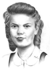 Portrait, Zeichnung, Zeichnungen, Oma