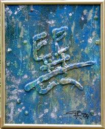 Philosophie, Malerei, Blau, Energie