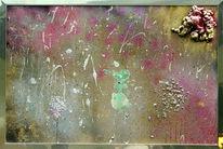 Mondlandschaft, Abstrakt, Malerei, Pastellmalerei