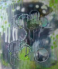 Grün, Abstrakt, Harmonie, Silber