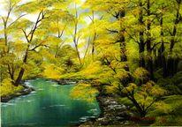 Laub, Wasser, Landschaft, Frühjahr