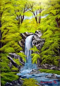 Wald, Wasserfall, Landschaft, Felsen