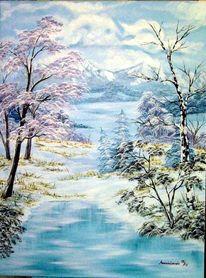 Eis, Schnee, Malerei, Himmel