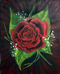 Malen, Stillleben, Rose, Malerei
