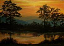 Wasser, Acrylmalerei, Baum, Malerei