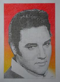 Portrait, Zeichnung, Zeichnungen, Elvis