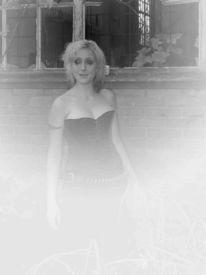 Gothic, Schwarz weiß, Fotografie, Frau