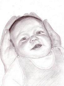 Portrait, Zeichnung, Zeichnungen, Baby
