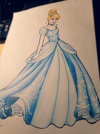 Comic, Disney, Prinzessin, Cinderella
