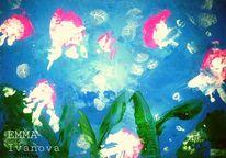 Meer, Unterwasser, Rosa, Blau