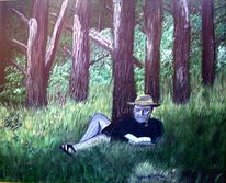 Urlaub, Malerei, Wald