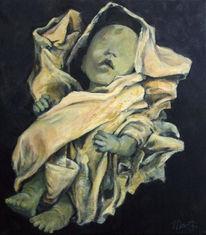 Dunkel, Geburt, Kind, Figural