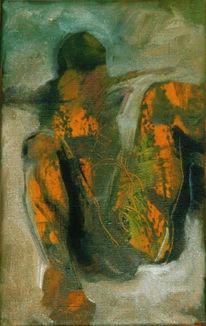 Abstrakt, Malerei, Gelb, Figural