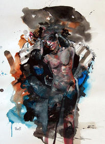 Frage, Franse, Malerei, Unruhe