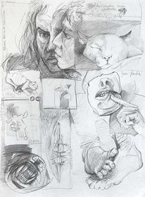 Skizze, Grafit, Chaos, Durcheinander