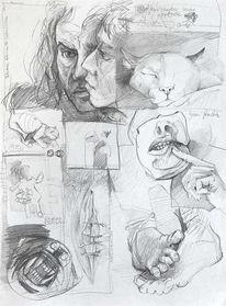 Spontan, Zeichnung, Skizze, Grafit