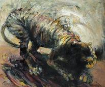 Malerei, Weiß, Tiger, Rolle