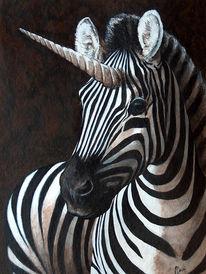 Figural, Zebra, Malerei, Tiere