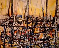 Landschaftsmalerei, Segelschiff, Malerei, Landschaft