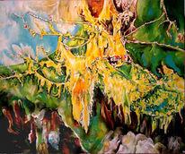 Deutsch, Urwüchsiges, Baum, Landschaftsmalerei
