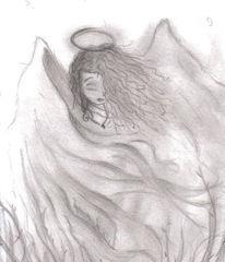 Skizze, Malerei, Engel