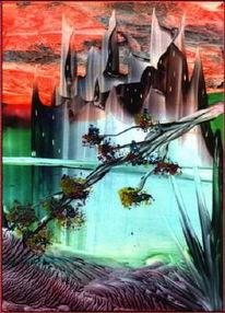 Geist, Abstrakt, Malerei, Stadt