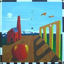 Apfel, Bühne, Surreal, Versuchung