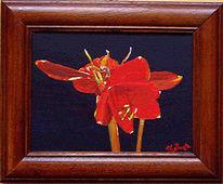 Blumen, Rot, Stillleben, Malerei