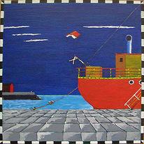 Surreal, Schiff, Dänemark, Hafen