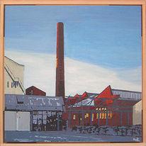 Architektur, Schornstein, Fabrik, Fotografie