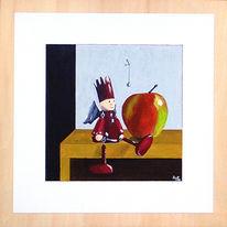 Apfel, Engel, Malerei, Figural