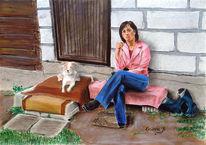 Portrait, Zeichnung, Zeichnungen, Haus