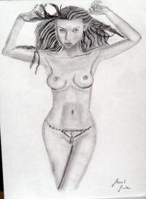 Akt, Malerei, Hydra nackt, Skizze