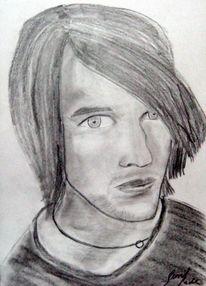 Malerei, Portrait, Mann, Bleistiftzeichnung
